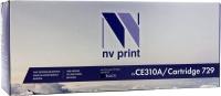 Совместимый картридж NV Print для HP CE310A/Canon 729 Black (1200 стр., черный)