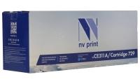 Совместимый картридж NV Print для HP CE311A/Canon 729 Cyan (1000 стр., голубой)