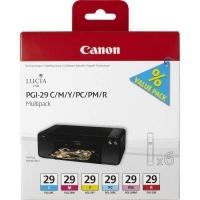 Картридж CANON PGI-29 C MULTIPACK для Pixma Pro 1(голубой, пурпурный, желтый, фото-голубой, фото-пурпурный, красный)
