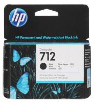 Оригинальный картридж HP 712 3ED71A черный (80мл) для HP DJ Т230/630