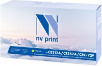 Тонер-картридж NV Print CE312A/CF352A/729Y (Жёлтый, 1000 стр)